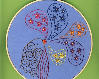 Hello Spring embroidery pattern PDF