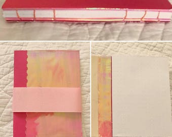 Pink Holographic Dotted Journal