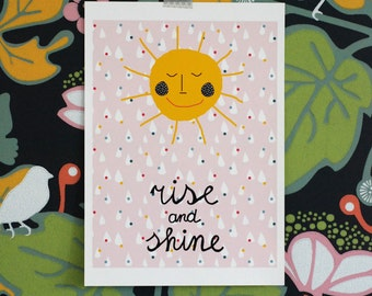 Ausverkauf! A3 Größe großes Poster / Aufstieg und Glanz der Sonne Sonnenschein