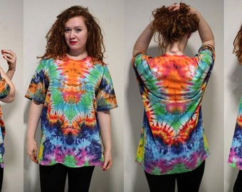 T-Shirt / Psychedelic / Unique Tie Dye/ TieDye / Hand made / Colors / Psytrance / Bleach Dye