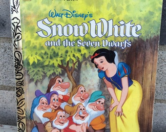 Disney Snow White and the Seven Dwarfs Little Golden Book,Snow White Little Golden Book, Little Golden Book