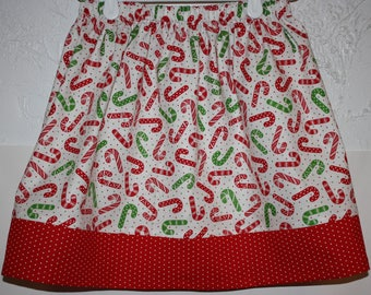 Candy Cane Skirt  Size 2 - 8  Have size  6  Ready to Ship