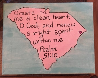State and town love with Bible verse or saying