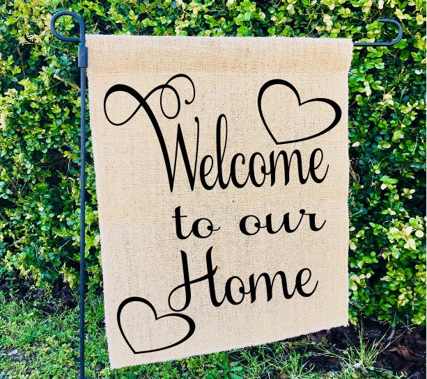welcome to our home garden flags outdoor decoration funny