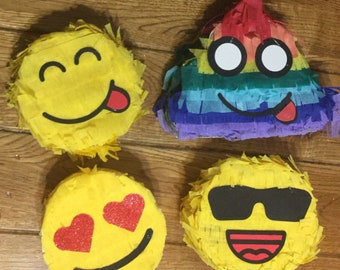 mini emoji pinata poop set of (4) adorable birthday party favor
