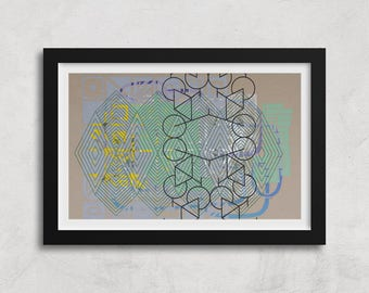 "Giclee Urban Graffiti Art Print, Limited Edition, Archival Print, Abstract Art, Modern Home Decor - ""Broken Configuration"""