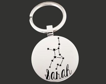 Zodiac Gift | Zodiac Keychain | Zodiac Key chain | Astrology Gift | Personalized Gifts | Korena Loves