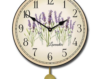 Lavender Pendulum Wall Clock