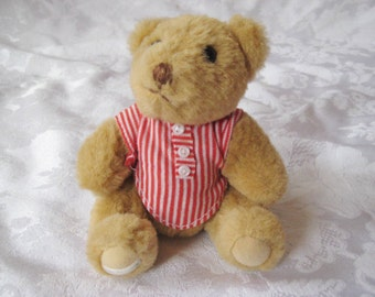 Posable stuffed teddy bear, collectible gorham bear, 1985, plushie toy