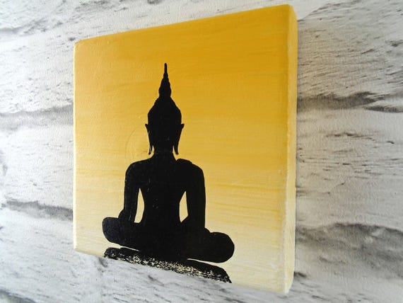Awesome Buddha Wood Wall Art Ensign - Wall Art Design ...