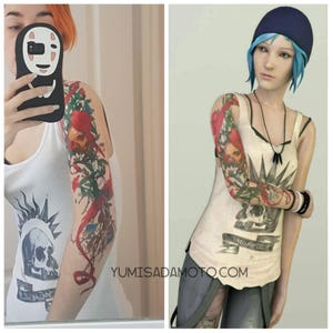 Chloe Price life is strange game temporary tattoo perfect for cosplay costume or party