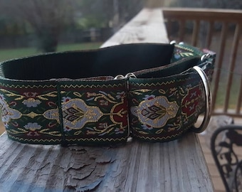 Martingale Collar - Holiday Jaquard  (Nylon)