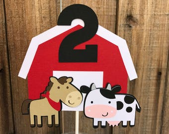 Farm Animals Cake Topper