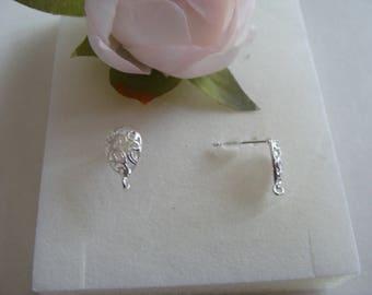 Copper Teardrop shape post earrings