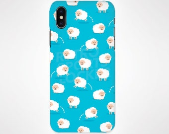 Sheep Blue Phone Case for iPhone and Samsung, iPhone X, 8, 7, 6, 6s, Plus, 5s, 5c, Samsung, S8