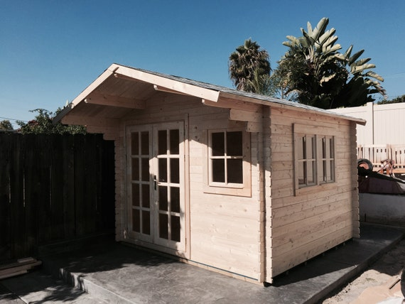 Pre fabricated natural wood cabin kits can be used as: guest house ...