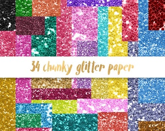3 FOR 8 Chunky glitter digital paper, Chunky glitter paper, pastel glitter backgrounds, glitter scrapbook paper, rainbow glitter paper
