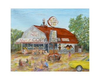 Magic Fountain Mattituck North Fork NY Ice Cream Parlor Historic Landmark Artist Bob Kuhne