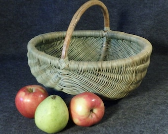 Large Wicker Buttock Egg Basket - Great for Farmers Market, Garden, Fruits, Vegetables and Decor.