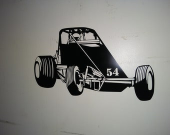 Metal Laser Cut Wingless Sprint car Customize the number and color
