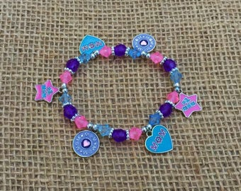 1 | #1 Mom Bracelet | Mom Jewelry | Mother's Day | Kids Craft | Bead Kit