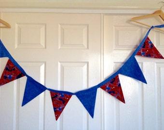 Spiderman Bunting | Nursery Decor | Banner | Flags | Boys Bedroom Decor | Home and Living | Superhero