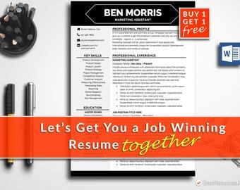Creative Resume Template Modern Resume Design Professional Resume Template Free Resume Template CV Template Resume Template Word CV Design