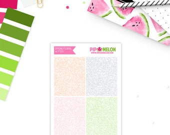 SPRING FLORAL Glitter Headers Add-On Weekly Planner Stickers  for Erin Condren Life Planner | WPO51-AOG