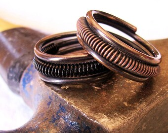 "Oxidized Copper Ring ""Mr. Man""  Choose ONE Ring"