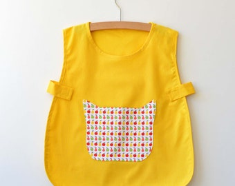 Yelow School blouse/apron 3 years/ 4 years / 5 years custom