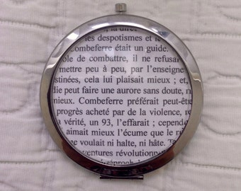 Customizable Les Miserables bookpage pocket mirror