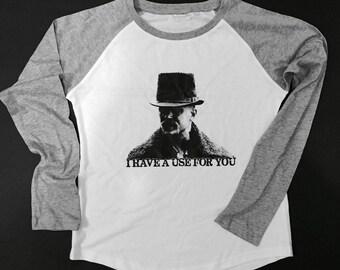 TOM HARDY Taboo Inspired Long Sleeve BASEBALL T-Shirt (Ladies Fit)