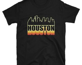 Houston Shirt Vintage Rainbow 3d Gift T-Shirt