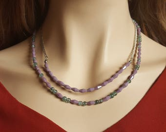 Purple Double Strand Necklace