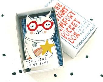 De Instant Comfort Pocket Box - kat met shooting star - u mijn hemel oplichten - vrolijken vak