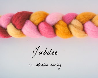 SALE! Jubilee, on Merino Roving 4oz.