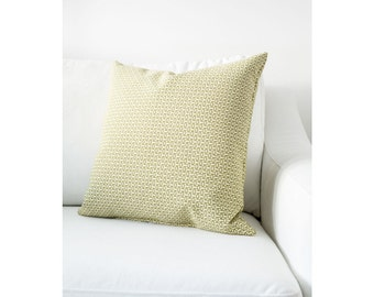 Light Geen - Light Beige Fully Washable Complete Pillow designed by Jo Alcorn