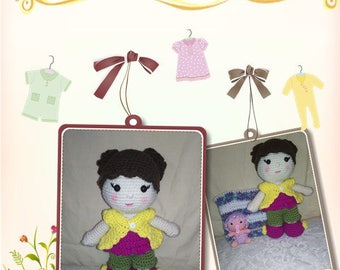 Mommy Jellybean doll with Baby and blanket