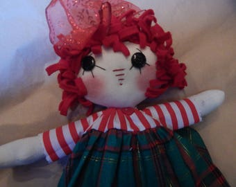 """Raggedy, 12"""", Hand made primitive doll"""