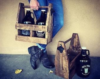 Growler Holder, Men's Gift, Beer Lovers Gift, Groomsmen Gift