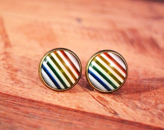 Rainbow Stud Earrings, Rainbow Jewelry, Rainbow Earrings, Rainbows Jewelry, Rainbow Earring, Rainbow Studs, Rainbow Stud, Rainbows Studs