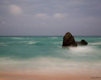 Fine Art Print of a Ruff ocean in Bermuda