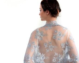 Bridal Lace Convertible Shawl - Shawl, Shrug, Twist And Scarf. Lace Wedding Shawl, Bridal Wrap, MultiWear Shawl, Bride's Cover, Wedding Lace