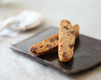 Cinnamon Chocolate Malt Biscotti, Gourmet Cookies, Biscotti