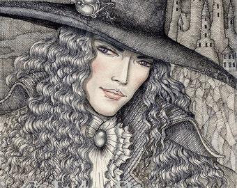 NIGHT HUNTER limited edition Vampire Fantasy Art Print