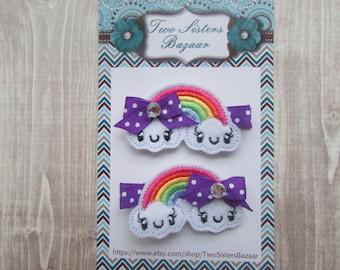 Rainbow Hair Clip, Girls Hair Clip, Toddler Hair Clip, Rainbow Baby, Infant Hair Clip, Hair Bow, Rainbow Baby