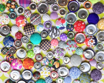 Button Earrings / Wholesale Jewelry / 25 Pairs / Custom Order / Fabric Covered / Bulk / Handmade in NYC / Hypoallergenic Studs / Custom