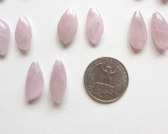 A grade Kunzite Half Top Drilled Freeform Drops One Asymmetrical Mismatched Pair Perfect for Earrings G4836