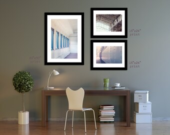 Romantic Photo Set, Train Travel Tryptic, Set of Photographic Prints, Set of 3 Prints - 4 sizes available