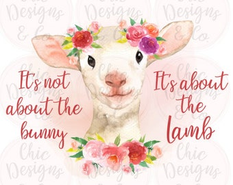 Religious Easter Transfers - Religious Lamb - Easter Transfers - Sublimation Transfers - Sub Transfers - Floral Lamb- Watercolor Lamb